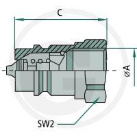 Hydraulická rychlospojka Faster NV 14 GAS F samice