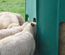 Plastový krmelec zvon La GÉE pro ovce a kozy  výška 153 cm, 12 míst bez dna