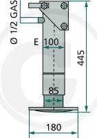 Opěrná noha hydraulická jednočinná Simol na vlek
