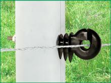 Kruhový izolátor pro elektrický ohradník se šroubem M6 prodloužený dřík 80 mm