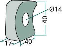 Uchycení průměr 14 mm vhodné pro Claas W/WA-S 450, W/WA-S 540, W/WA-S 360, Volto 450