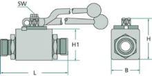 Hydraulická spojka kulový kohout pro trubku o vnějším průměru 12 mm