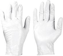 Jednorázové rukavice latexové bílé 100 ks
