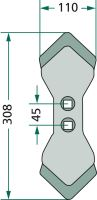 Radlice kultivátoru K31 vhodná pro Doublet- Record, Gruse, Kongskilde