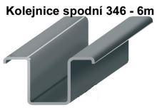 Pozinkovaná spodní kolejnice 6 m 346Z pro závěsná nebo skládací vrata
