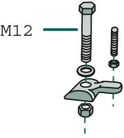 Upevnění pera pro obraceče komplet (nový tvar od roku 1985) vhodné pro Deutz Fahr KH 4 S