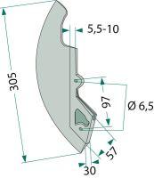 Ostří secí botky vhodné pro Kuhn Nodet na kukuřici dlouhé