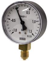 """Vakuový tlakoměr pro fekální vozy přípoj dolní 1/4"""""""