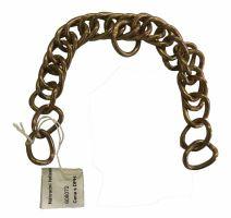 Náhradní řetízek pro udidla na koně zlatá barva délka 22 cm