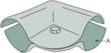 Stájová úhlová spona dvojdílná s 1 šroubem