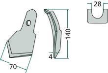 Široký hrot pro pero kombinátoru 23532RS2977S