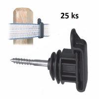 Páskový izolátor s vrutem Standard pro elektrický ohradník