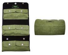 Plstěné pouzdro 6 kapes zelené na 30 spodních stříhacích nožů na stříhání ovcí