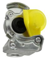 Hlava spojky Wabco pro tažná vozidla žlutá provedení M 16 x 1,5