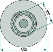 Kluzný talíř pro bubnové žací lišty Deutz-Fahr KM3.19 a Vicon/PZ CM 185, 185H, 186, 190