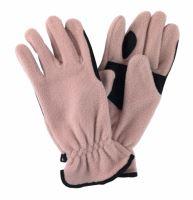 Jezdecké rukavice fleecové barva béžová velikost L