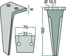 Hřeb do rotačních bran vhodný pro Lipco