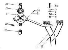 Zajištění per kompletní pro obraceče Deutz Fahr vhodné pro KH 2, KH 4, KH 6