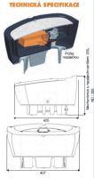 Vyhřívaná dvojstěnná plastová hladinová napáječka La GÉE Polyspring II C 50W / 24V