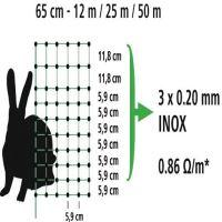 Vodivá králičí síť 65 cm/25 m s jednoduchým hrotem