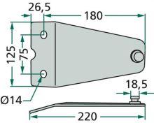 Držák nožů vhodný pro rotační sekačky Deutz-Fahr KM 3.29/FS, Vicon/PZ CM 298, 295 F