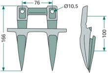 Dvojité prsty pro kombajny New Holland, Case IH, Clayson žací lišta série 1500