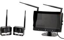 """2 bezdrátové kamery s nočním viděním a kamerový systém s barevným LCD monitorem 9"""""""