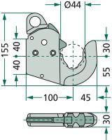 Upínací hák pro spodní závěs třetích bodů traktorů kat. 1 original CBM