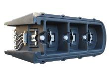 Vyhřívaný plastový napájecí žlab La GÉE Polymax C 200 l 4x80W / 24V pro skot