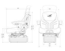 Traktorová sedačka Grammer Maximo Dynamic DDS MSG 95AL741