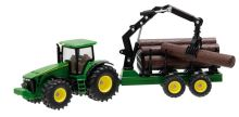 Siku - traktor John Deere 8430 s lesnickým přívěsem 1:50