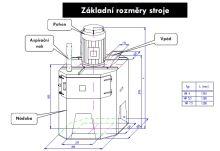 Kladívkový šrotovník na obilí, kukuřici VM 5,5 kW vertikální, drtič odpadu, kostí, slámy