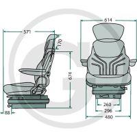 Traktorová sedačka Grammer MAXIMO Basic (MSG 85/721)