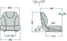 Sedačka Granit mechanicky odpružená pro vysokozdvižné vozíky