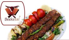 Adana kebab maker pro vertikální plničky klobás BEEKETAL včetně 10 ks špízů