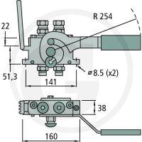 Multifaster 2PB06-2-12G FC samice pákový rychloupínač  hydrauliky 2 rychlospojky