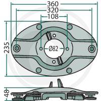 Žací kotouč s rychlouzávěrem vhodný pro Krone AFA 243 RS, AFA 283, AFA 323 RS, AFL 243