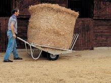 Trakař kovový La GÉE dvoukolový se sklopnými bočnicemi na přepravu balíků sena a slámy