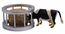 Kids Globe kruhový krmelec s krávou v měřítku 1 : 32