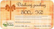 Dárkový poukaz v hodnotě 500 Kč na nákup veškerého zboží z našeho eshopu