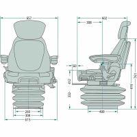 Traktorová sedačka Grammer MAXIMO EVOLUTION Dynamic (MSG 95EL/741)