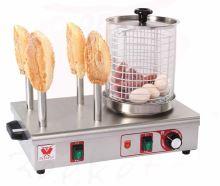 Párkovač hot dog, ohřívač párků v rohlíku, ohřívač hot-dogů čtyřtrnový Beeketal BHG07