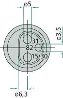 Konektor 3-pólový 12V/25A z umělé hmoty plochý