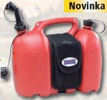 Dvojitý kanystr Profi pro 6 l paliva a 3 l oleje