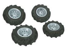 Rolly Toys - vzduchové pneumatiky se stříbrnými disky pro rollyFarmtrac