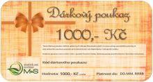 Dárkový poukaz v hodnotě 1000 Kč na nákup veškerého zboží z našeho eshopu
