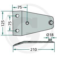 Držák nožů vhodný pro rotační sekačky Deutz-Fahr KM 3.23S/FS, Vicon/PZ CM 230/F