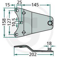 Držák nožů vhodný pro rotační sekačky Deutz-Fahr KM 4.26/S, 4.30S/F/FS/HPC, KMA 4.30