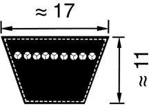 Klínový řemen klasický Li B 43 DIN 2215 profil B/17
