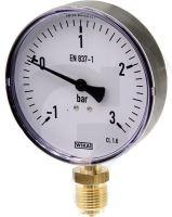 """Vakuový tlakoměr pro fekální vozy přípoj dolní 1/2"""""""